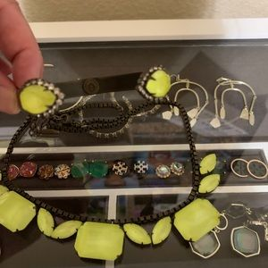 Loren Hope Neon Yellow Necklace and Cuff bracelet